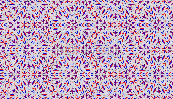 Fraktal Hexagon Nahtloses Muster