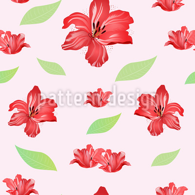 Passion For Lilies Vector Pattern