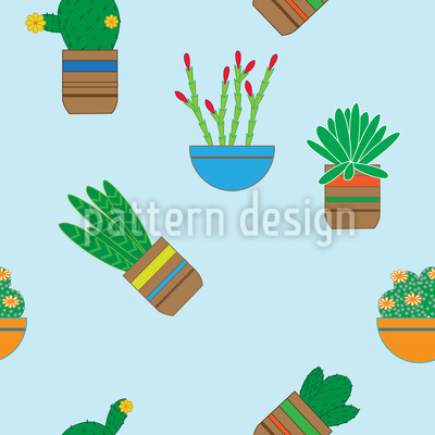 Succulent Plants Pattern Design