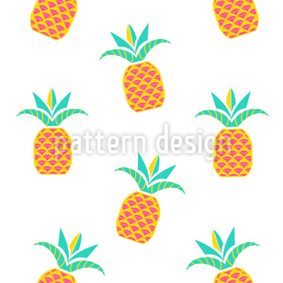 Tropical Pineapples Pattern Design