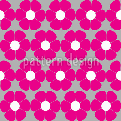 Sixties Floral Seamless Vector Pattern