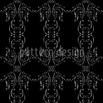 Metall Schnörkel Vektor Muster