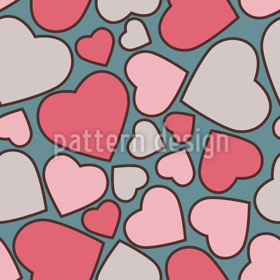 Candy Hearts Repeating Pattern