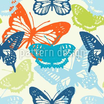 Butterflies In Summer Pattern Design