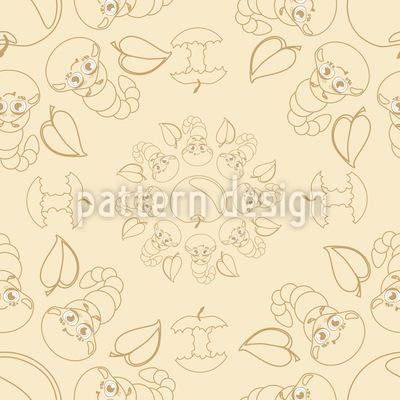 Funny Caterpillars Pattern Design
