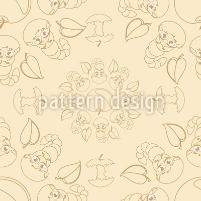 Lustige Raupen Muster Design