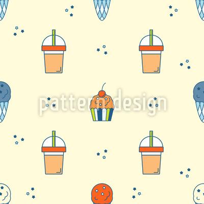Eis und Getränke Muster Design