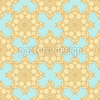 Geometrische Blumen Musterdesign