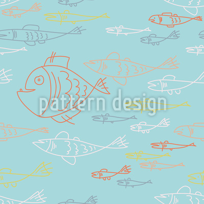 Sea World Doodles Repeating Pattern