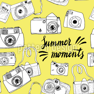 Momente des Sommers Nahtloses Muster