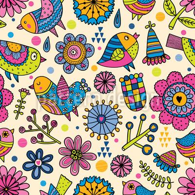 Garten Spass Muster Design