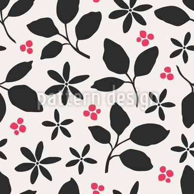 Blätter und Beeren Nahtloses Muster