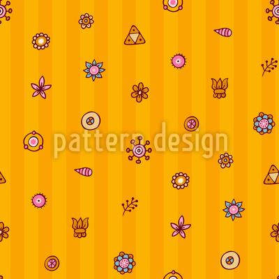 Flowers On Stripes Pattern Design
