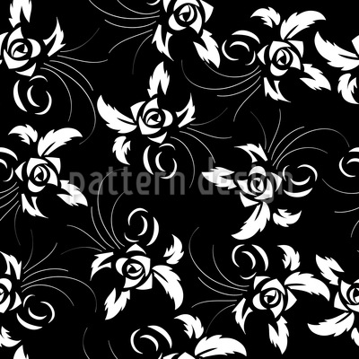 Dark Rose Vector Pattern