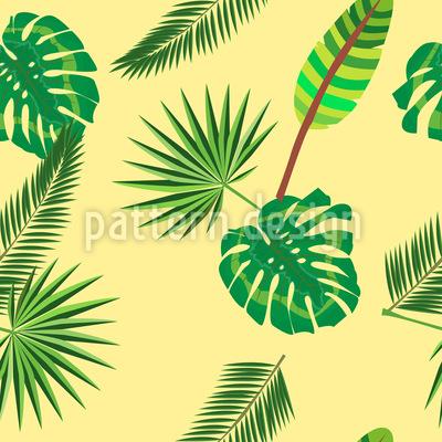 Tropischer Blatt Dschungel Designmuster