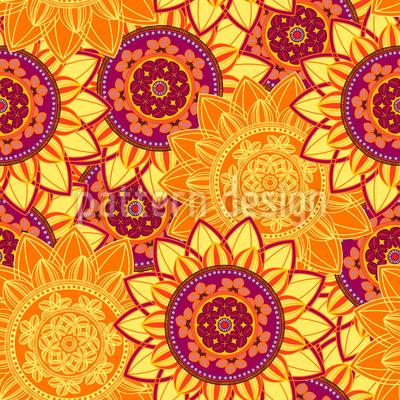 Sonnenschein Mandala Vektor Ornament