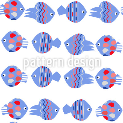 Fish Power Vector Pattern