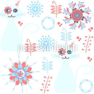 Katzen mit Blumen-Augen Vektor Design