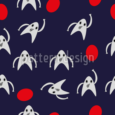 Fancy Monsters Repeat Pattern