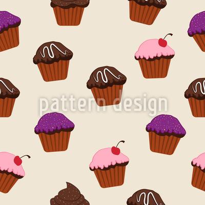 Glacierte Cupcakes Designmuster