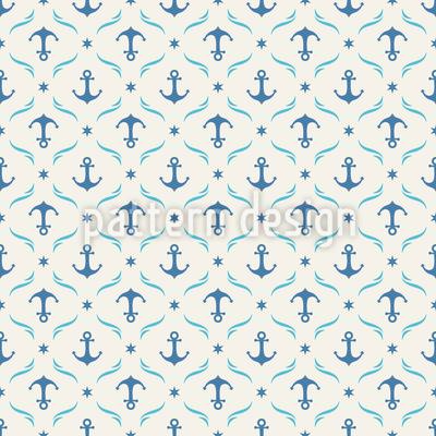 High Sea Anchor Seamless Pattern
