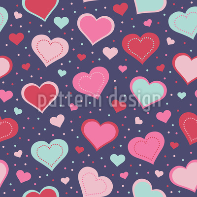 Totally In Love Seamless Vector Pattern