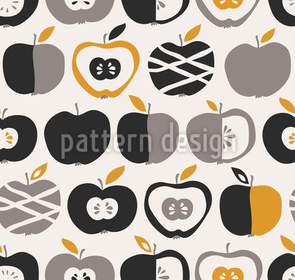 Retro Äpfel Rapportiertes Design