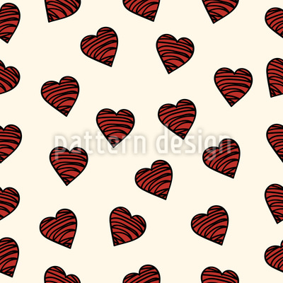 Chocolate Hearts Pattern Design