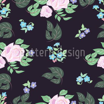 Roses At Night Vector Ornament