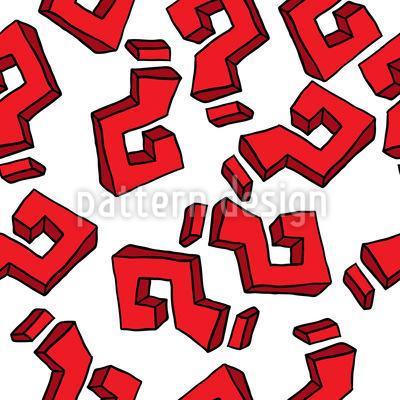 Fragezeichen Nahtloses Muster