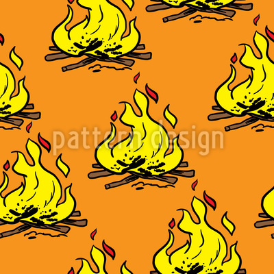 Fire Pit Vector Pattern