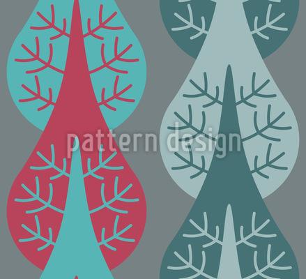 Vertikale Bäume Muster Design