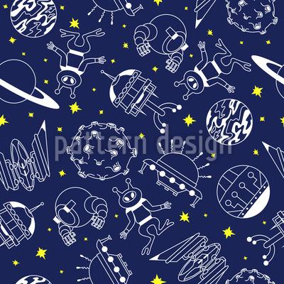 Space Adventure Vector Ornament
