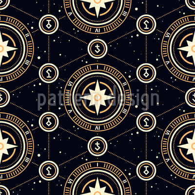 Strange Alchemic Symbols Seamless Vector Pattern