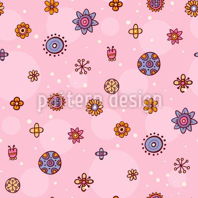 Blumenzeichnungen Rapportiertes Design