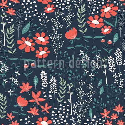 Frühlingsgarten Muster Design