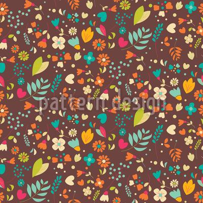 Blumenwiese Nahtloses Muster