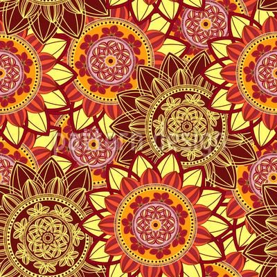 Sonnenaufgang Mandala Vektor Ornament