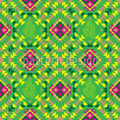 Mexikanisches Mosaik Nahtloses Vektor Muster