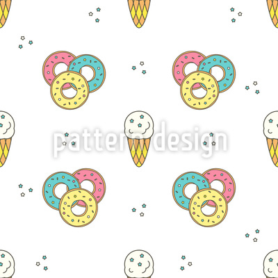 Donuts and ice cream Repeating Pattern