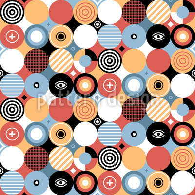Patchwork Circles Vector Ornament