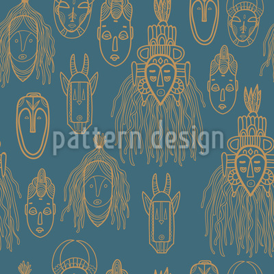 African Trophies Pattern Design