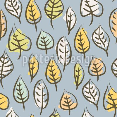 Pinselstrich Blätter Vektor Muster