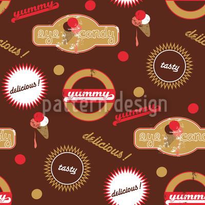 Yummy Braun Nahtloses Muster