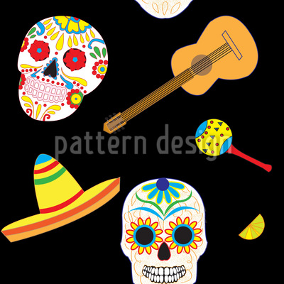 Typical Mexican Seamless Pattern
