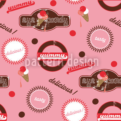 Yummy Pink Seamless Vector Pattern