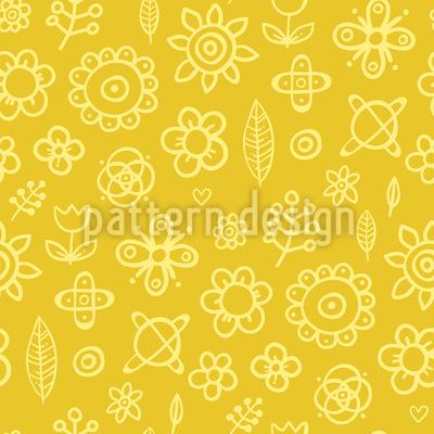 Floral Drawings Repeat Pattern