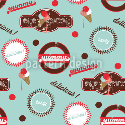 Yummy Mint Vector Pattern