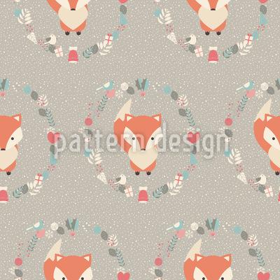 Weihnachts Baby Fuchs Muster Design