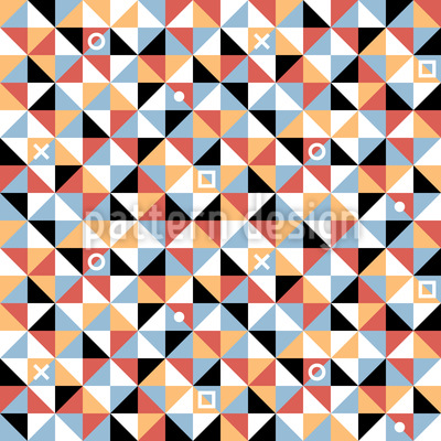 Triangles And Squares Seamless Pattern